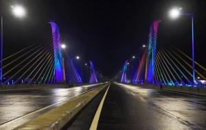 New Kelani Bridge lights up…-by Nimalsiri Edirisinghe