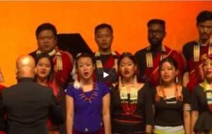 The Sri Lankan National Anthem (Short version) sung by The Fricilia Mixed Choir & The Ao Naga Choir