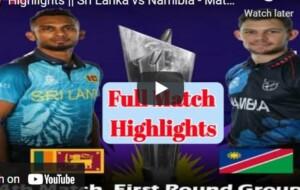 ICC Cricket World Cup T20 Match Highlights: Sri Lanka v Namibia – 18 October 2021